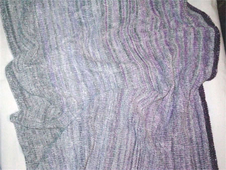 silver linings rayon chenille handwoven shawl