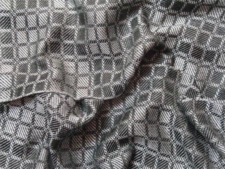 handwoven black & silver scarf