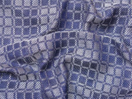 handwoven navy & silver scarf