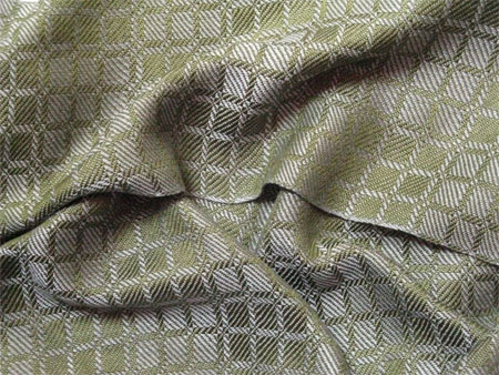 handwoven olive & silver scarf
