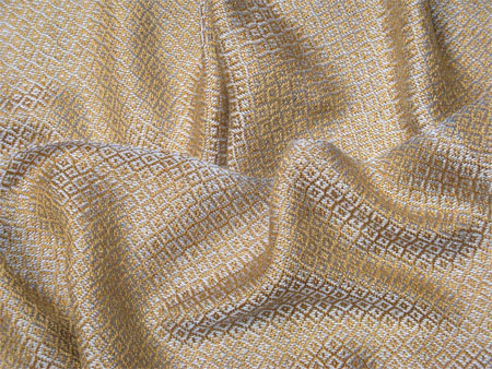 handwoven silver & gold scarf