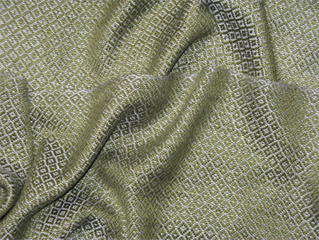 handwoven silver & olive tencel scarf