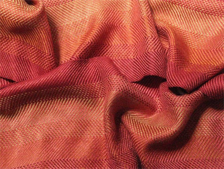 handwoven scarf-fire in the hills with cayenne