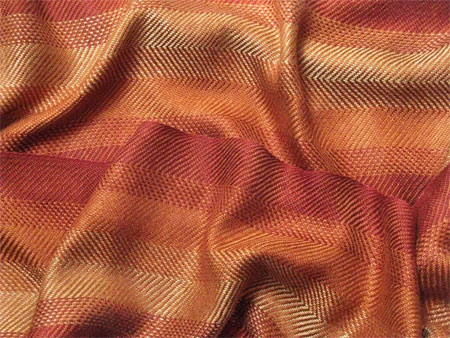 handwoven scarf - fire in the hills with sienna