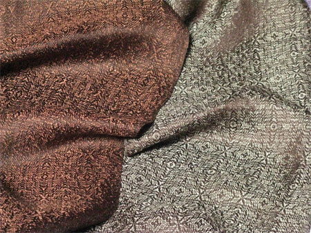 2 handwoven silk scarves