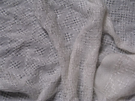handwoven shawls, white rayon lace