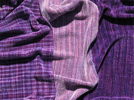 handwoven rayon chenille scarves, Grape Ape