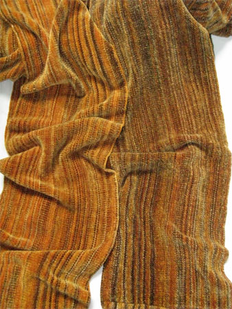 handwoven rayon chenille scarves, cappucino