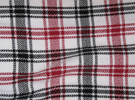 elongated plaid towels