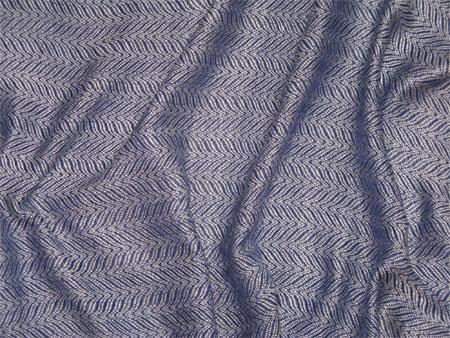 handwoven cream & twilight blue silk shawl