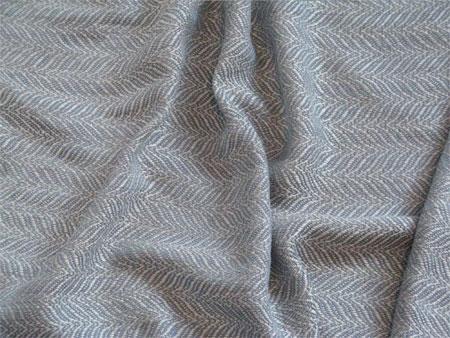 handwoven cream & winter blue silk & linen shawl