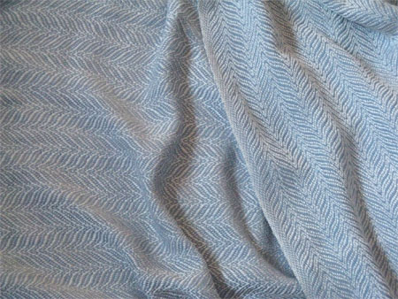 cream & blue silk, up & down