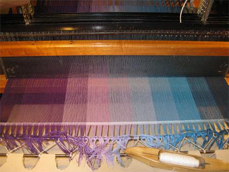 EJ's warp on the loom
