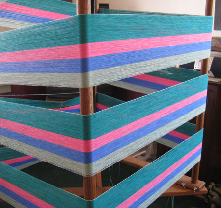H&H's first section of warp on the mill