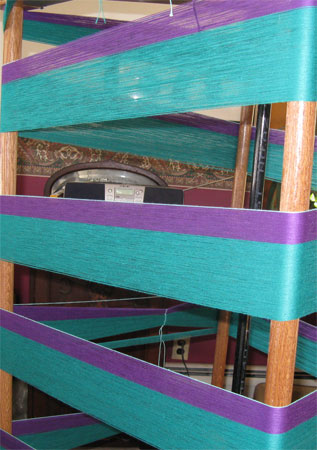 H&H's 2nd section of warp on the mill