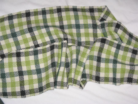 plaid alpaca scarf