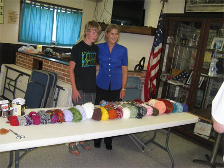 boy, Senator, & organized yarn