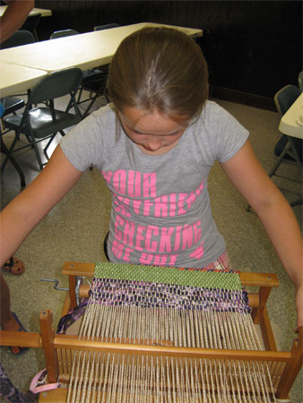 girl weaving