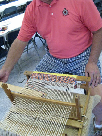 man weaving