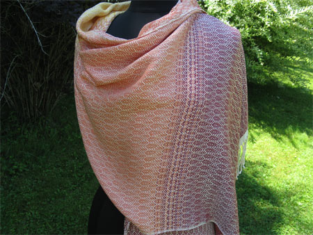 falling leaves silk shawl 1-b