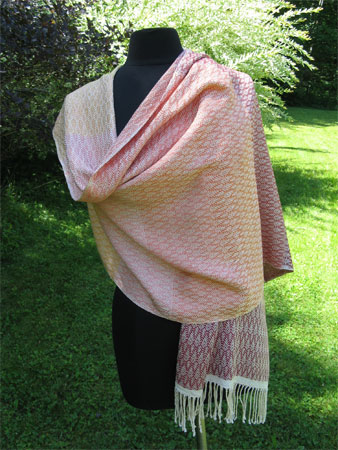 falling leaves silk shawl with gradations