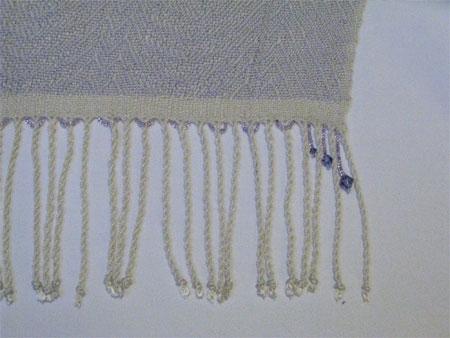 beaded silk with crystal