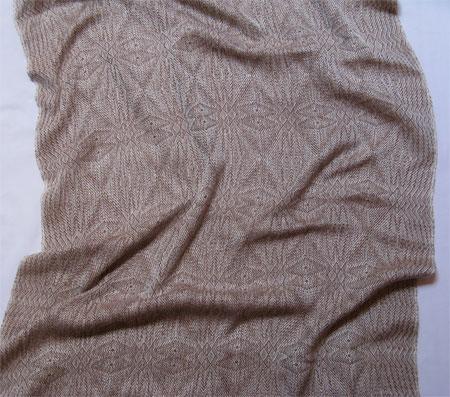 latte silk snowflakes shawl