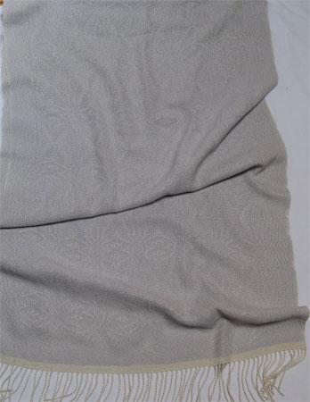 silk shawl with silver lilac