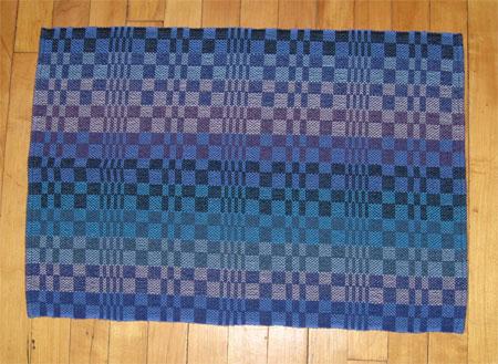 single color weft blue towels