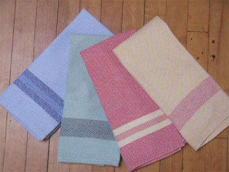 colored towels with borders
