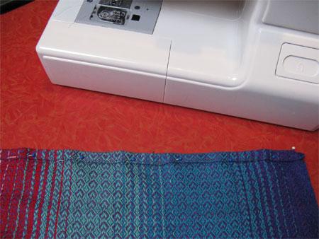 wrap pinned for hemming