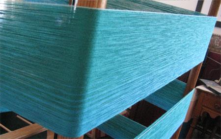 aquamarine to turquoise warp