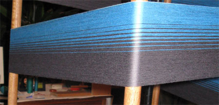 bleu moyen to charcoal warp