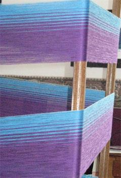 bleu moyen & mauve pale warp