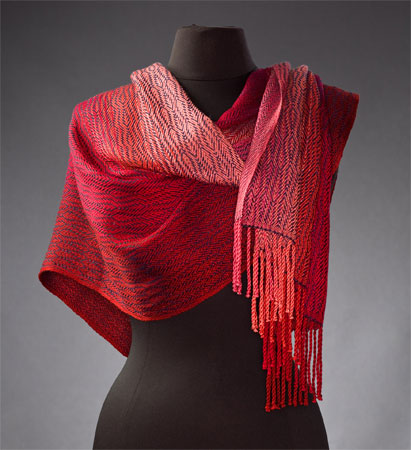 Gradations in Red Shawl