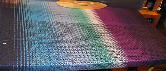 PW's wrap on the loom