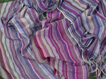 3 blue & purple shawls