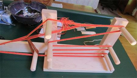 Schacht inkle loom, warped
