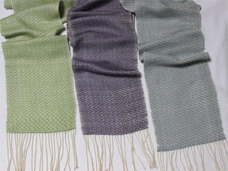 3 silk waves scarves