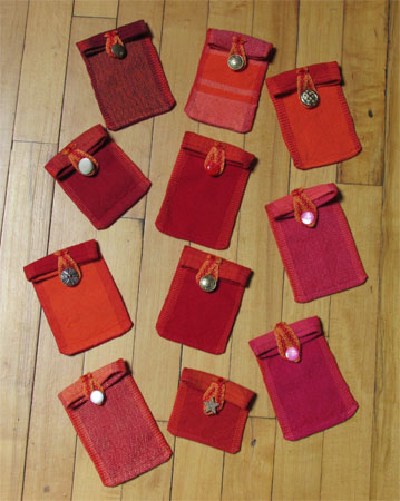 treasure pouches with buttons