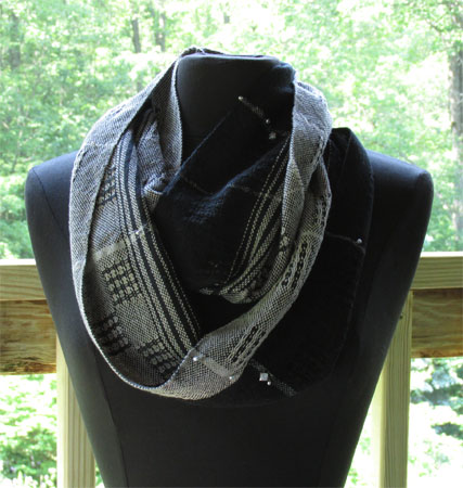 zing bling lace infinity scarf