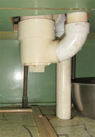 trap under the sink