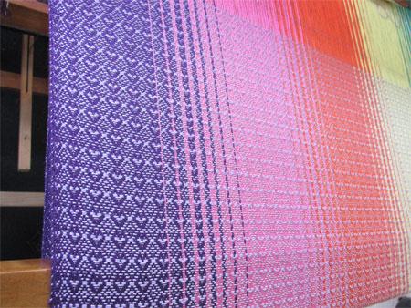EK's lavender silk weft