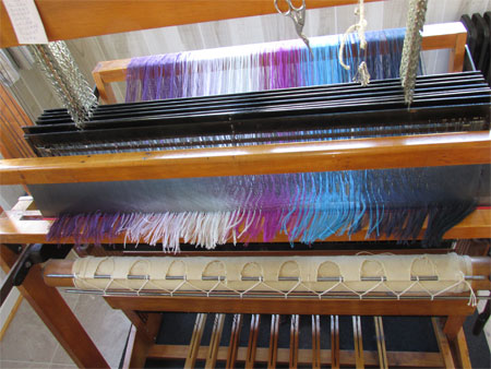 cut ends at loom