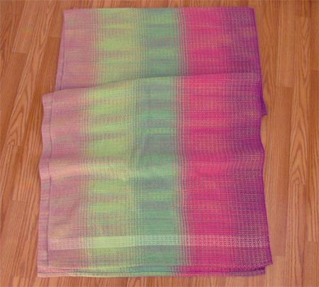 RBG's wrap with variegated weft