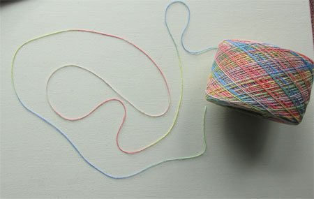 RGB's hand painted yarn