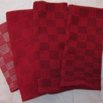 Cranberry towels