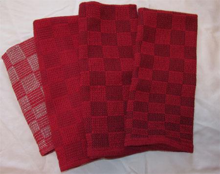 Cranberry towels
