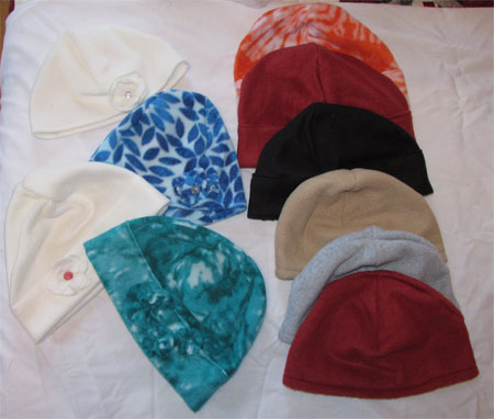 10 fleece hats