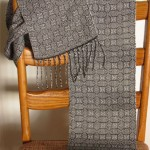 black and white handwoven complex shadow weave